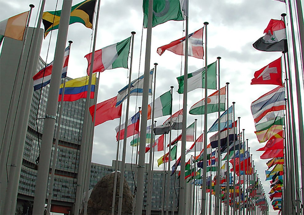 flags in Vienna