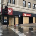 A looted Chicago storefront