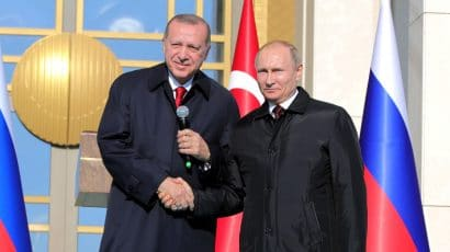 Recep Tayyip Erdogan and Vladimir Putin