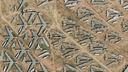 B-52 bombers in the Arizona desert,
