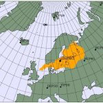 Map showing possible source region for radioisotopes detected by Swedish monitoring station on June 22 and 23, 2020.
