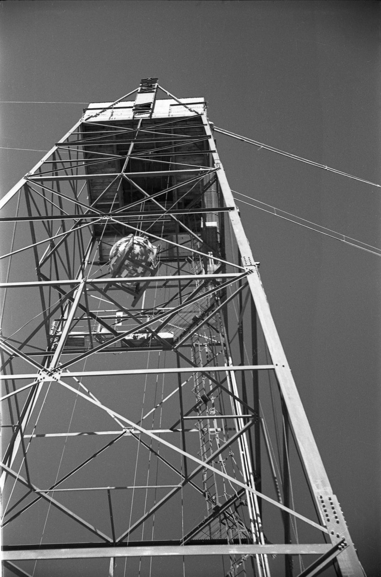 The gadget was lifted to the top of the tower on July 14, two days before it was triggered.