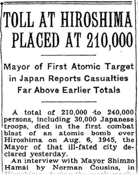 new york times atomic bomb hiroshima 1945