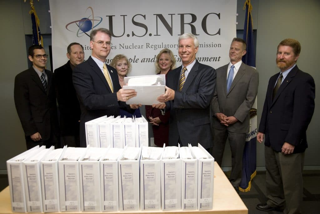 Energy Department representatives presented Yucca Mountain license application to the NRC on June 3, 2008.