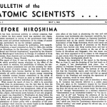 Bulletin May 1946 edition