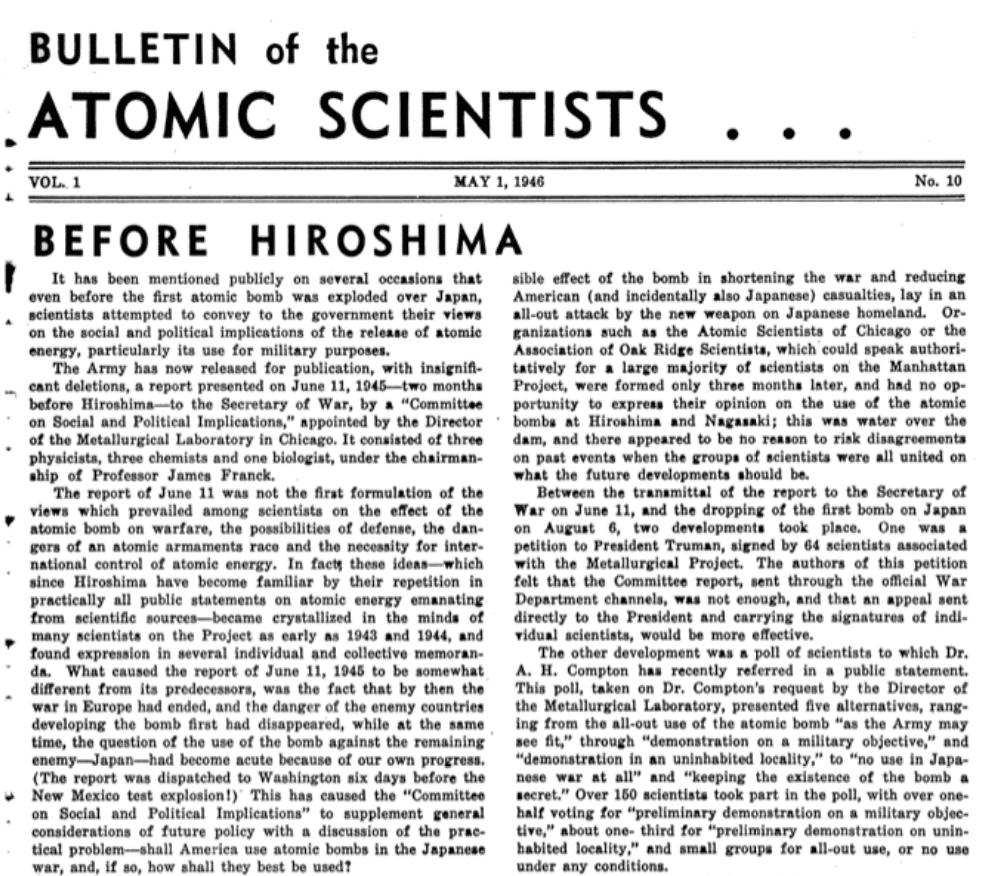 Bulletin May 1946 edition