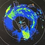 radar image of eye of hurricane