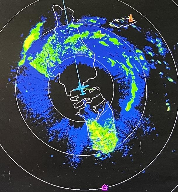 radar image of eye of hurricane