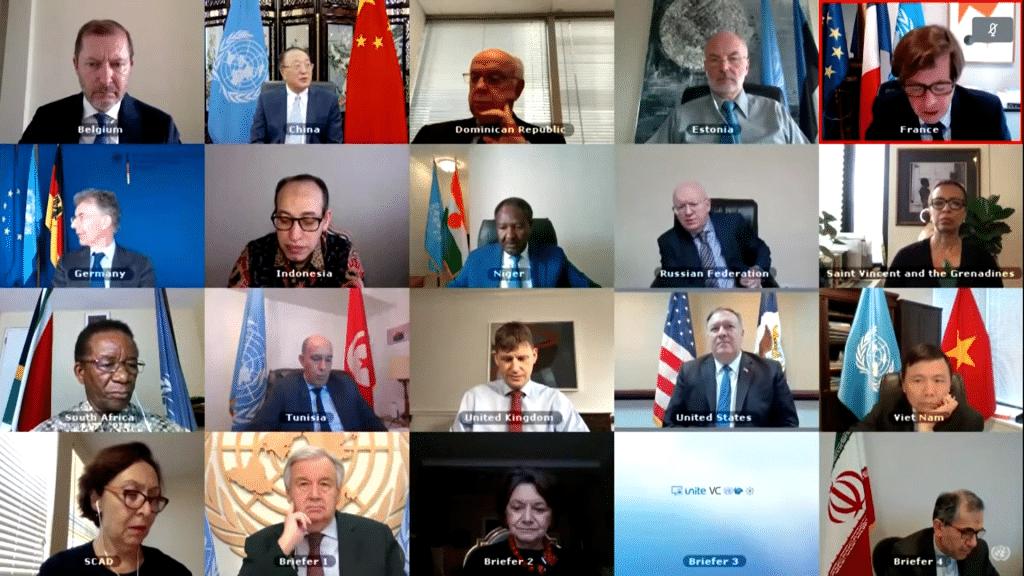 UN Security Council virtual meeting