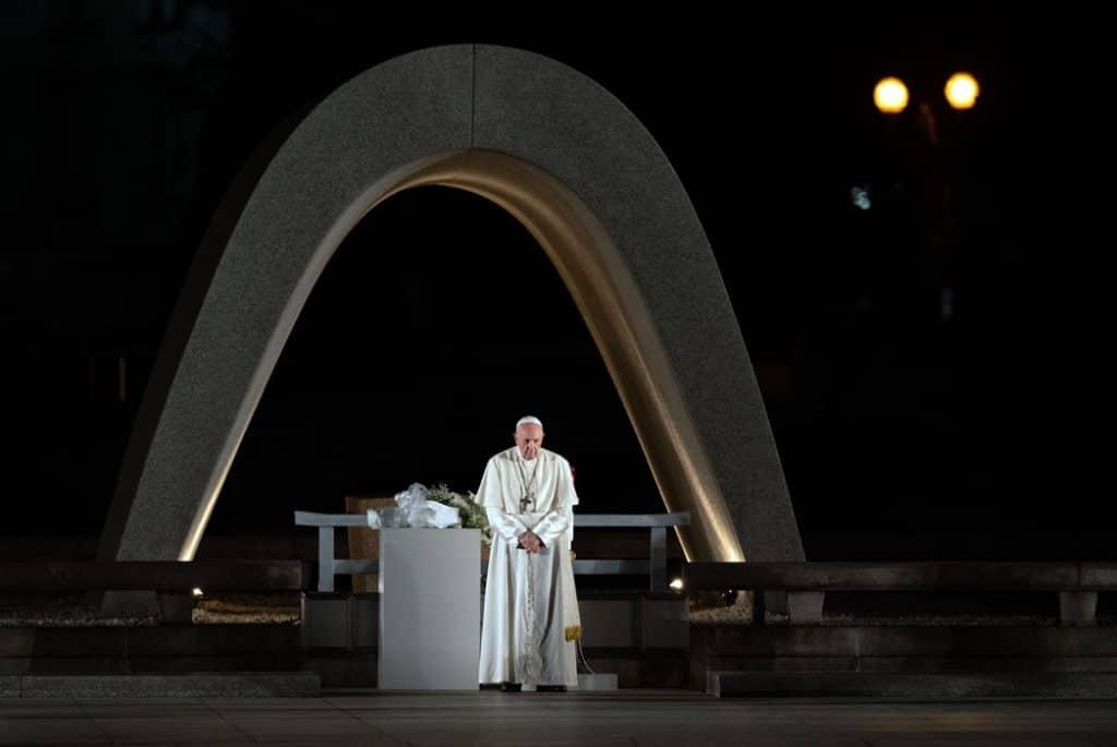 Pope Francis in Hiroshima in November 2019.