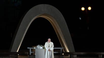 Pope Francis in Hiroshima in November 2019.