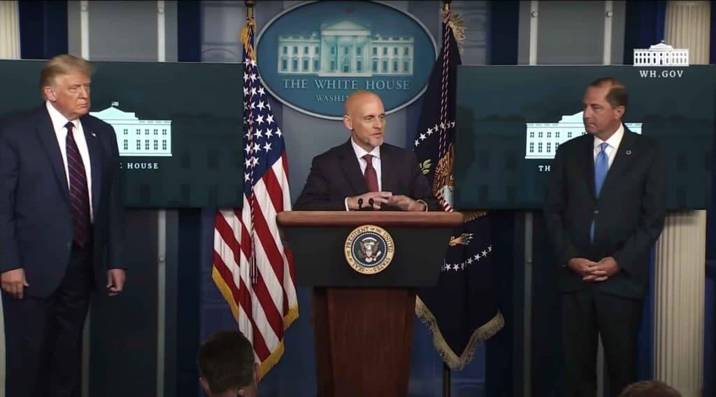A White House press conference on convalescent plasma.