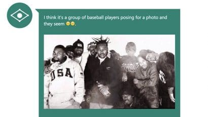 An AI system described the Wu-Tang Clan as a baseball players.