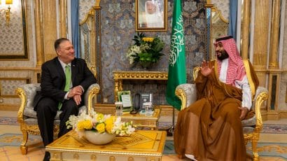 Mike Pompeo and Mohammed bin Salman