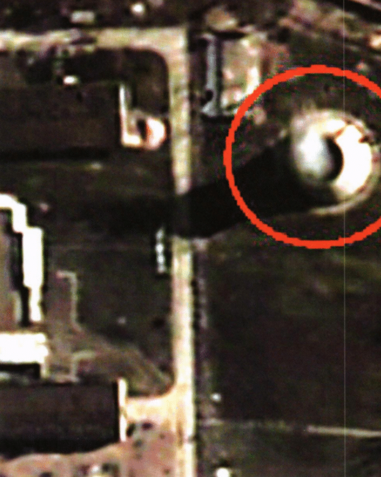 Satellite image of steam coming from Yongbyon reactor