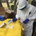 A disease detective during the 2014 Ebola outbreak in Liberia.