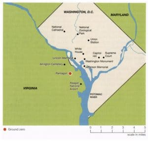 simplified map of Washington DC