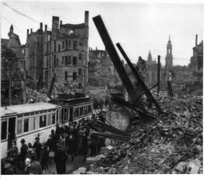 After Dresden firebombing 1945