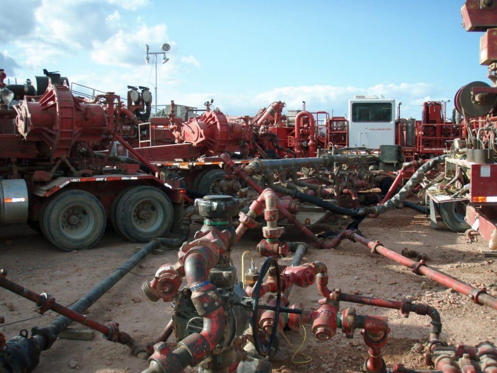 fracking equipment, North Dakota