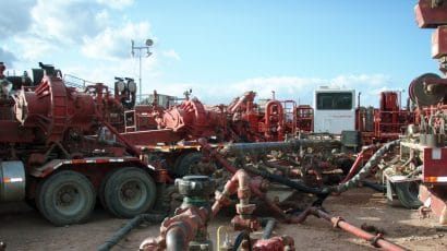 fracking equipment, North Dakota