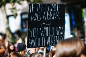 If climate was a bank protest