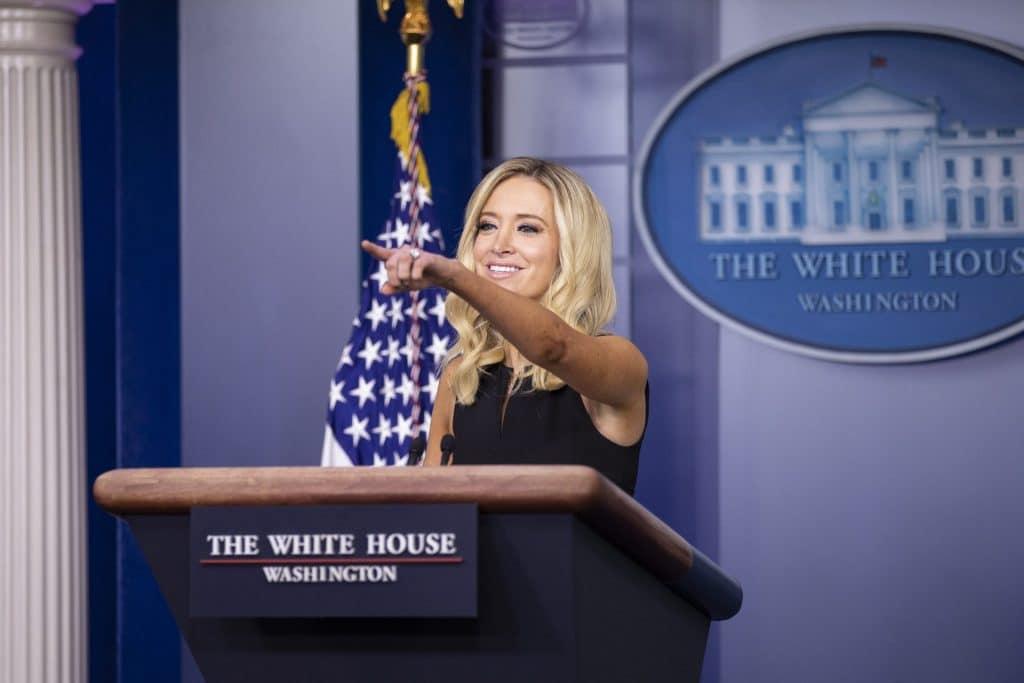 White House Press Secretary Kayleigh McEnany holds a press briefing on September 22, 2020