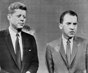 B/W photo, Richard Nixon, 1960 debate