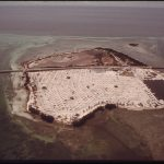 Aerial photo of trailer park in Florida Keys