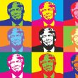 multiple images of Trump in style of Andy Warhol silkscreen