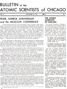 The Bulletin's first issue, dated Dec. 10, 1945