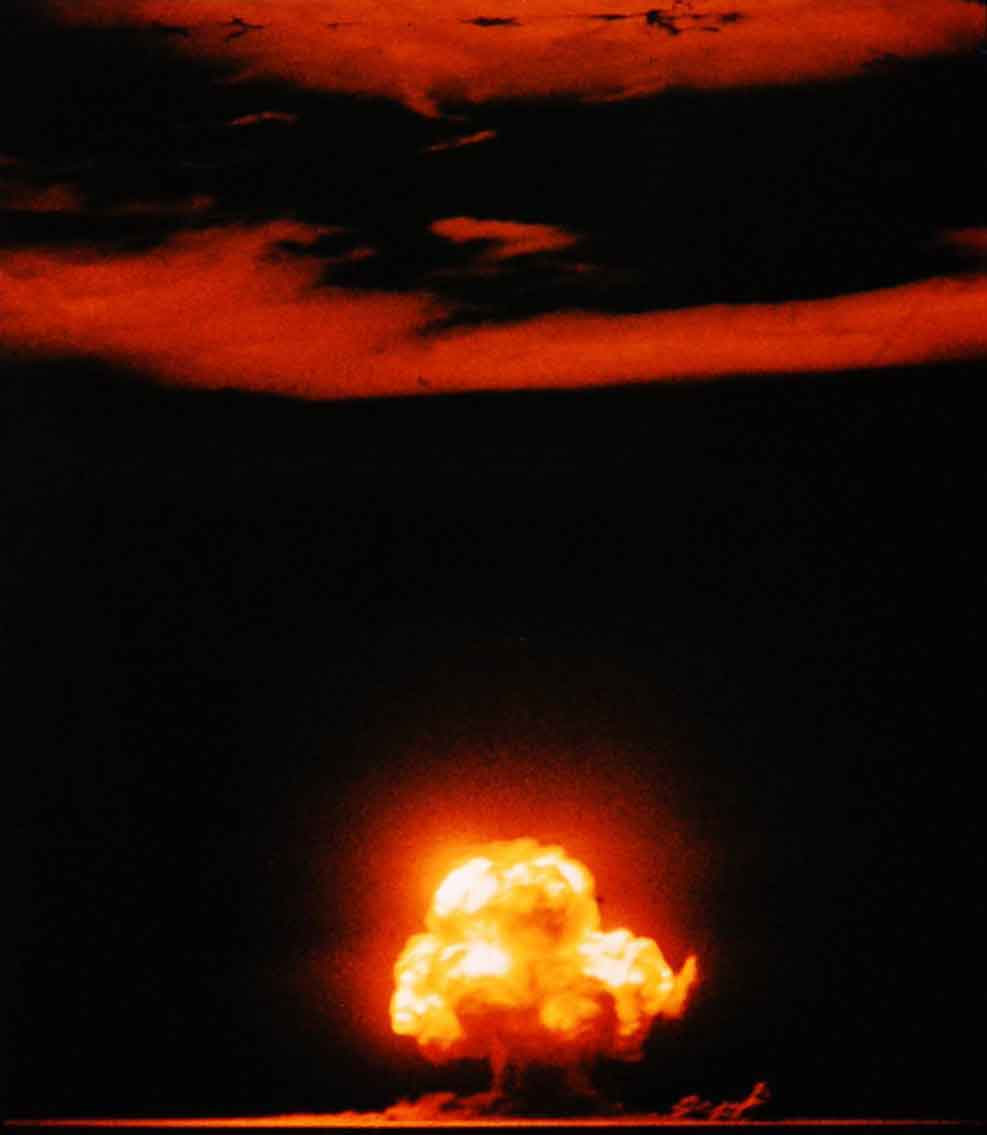 The first atomic bomb test.