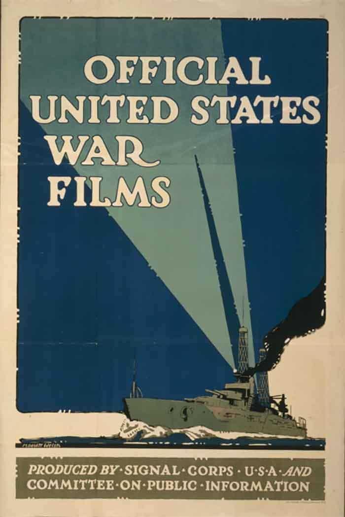 A propaganda film transparency.