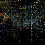 Visitors check out an infinity chamber at the