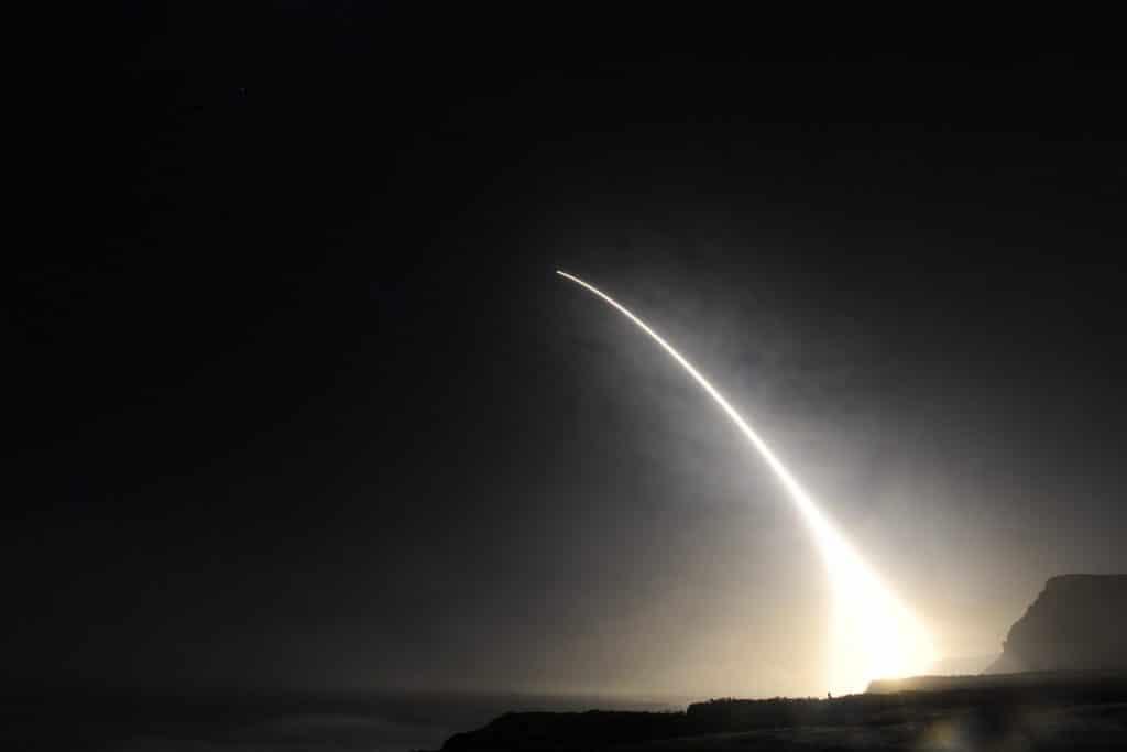ICBM test launch