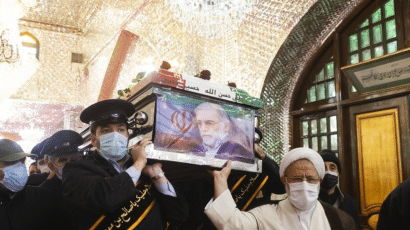 The funeral procession for Mohsen Fakhrizadeh