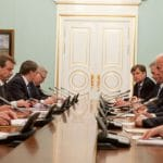 Then-Vice President Joe Biden meets with Russian Prime Minister Vladimir Putin at the Russian White House, in Moscow, Russia, in 2011. (Official White House Photo by David Lienemann)