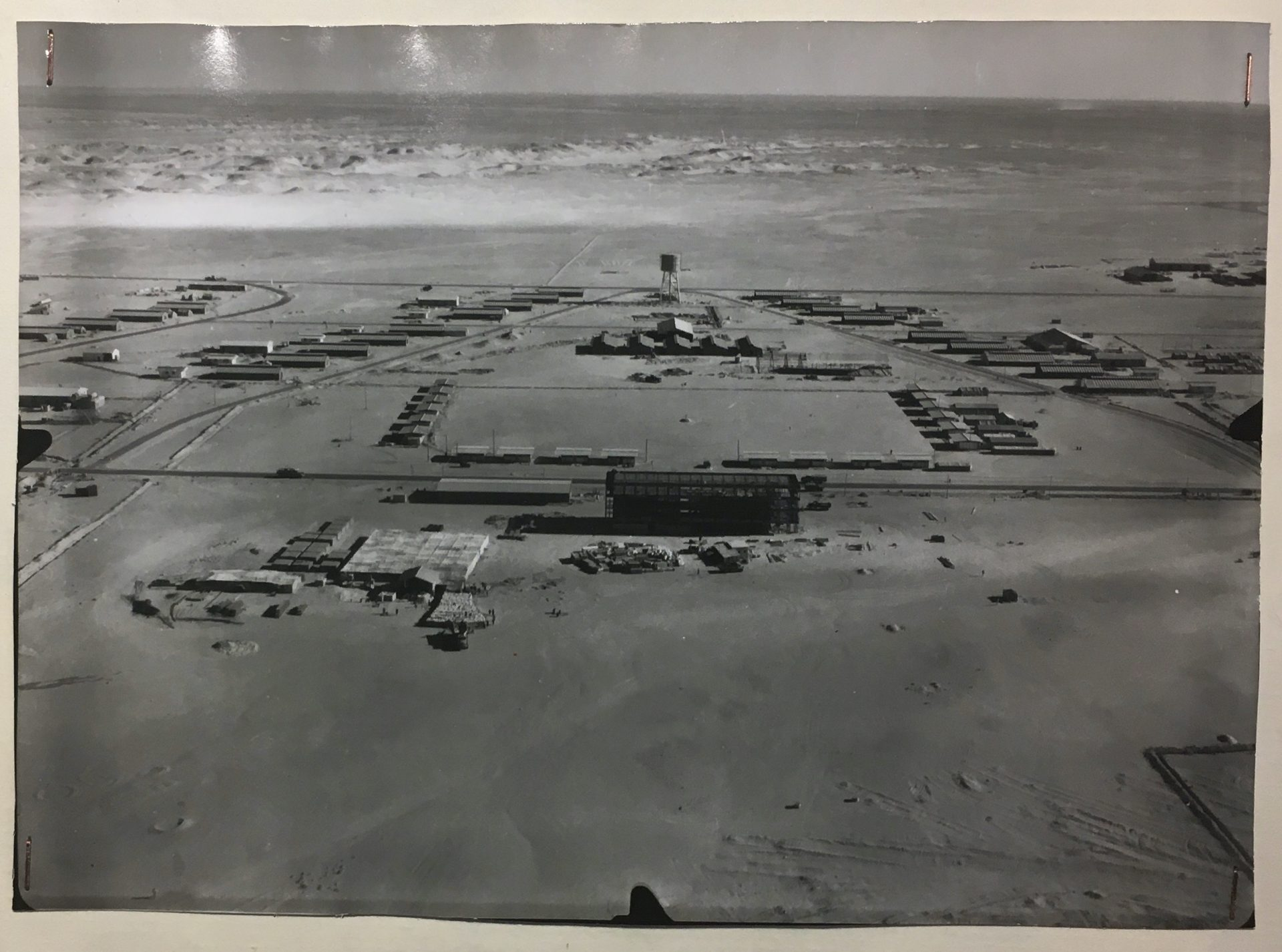 Military base adjacent to France's atmospheric test site near Reggane, Algeria, circa 1959