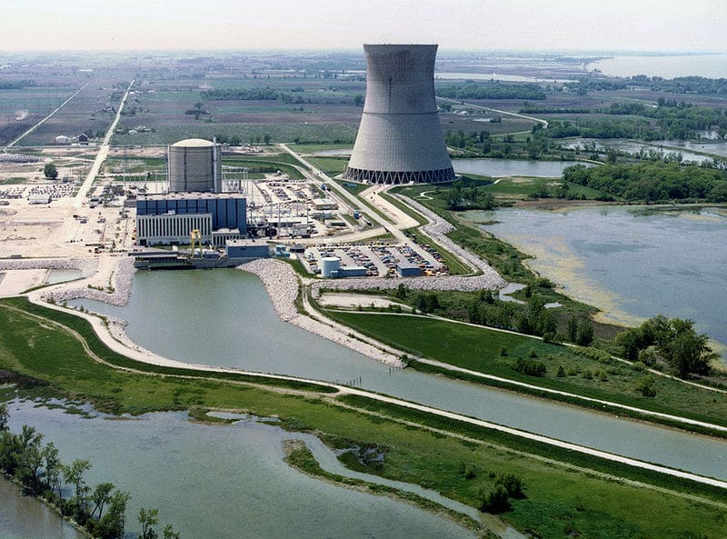The Davis–Besse Nuclear Power Station, located northeast of Oak Harbor, Ohio. Photo credit: Nuclear Regulatory Commission/Wikimedia