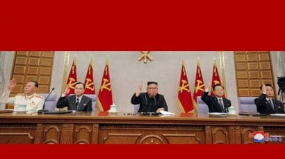 Kim Jong Un at the 8th Workers Party Congress. Photo credit: KCNA via KCNA Watch.
