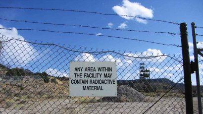 A uranium mine.
