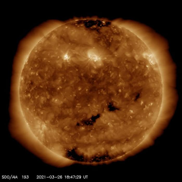 image of sun from NASA spacecraft observatory