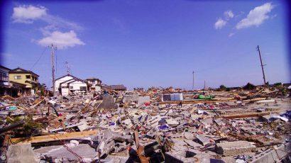 Tsunami damage.