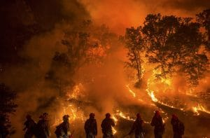 Flames from the Valley Fire in Lower Lake, California September 13, 2015. Credit: Jeff Head. Public domain image accessed via Flickr.