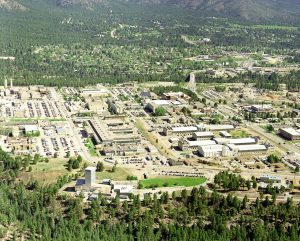 Arial view of Los Alamos National Laboratory. Credit: LANL. Accessed via Wikimedia Commons.