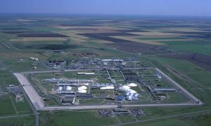 Aerial view of Pantex Plant in Amarillo, Texas. Credit: Public domain image accessed via Wikimedia Commons.
