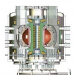 artist's illustration of a fusion power plant