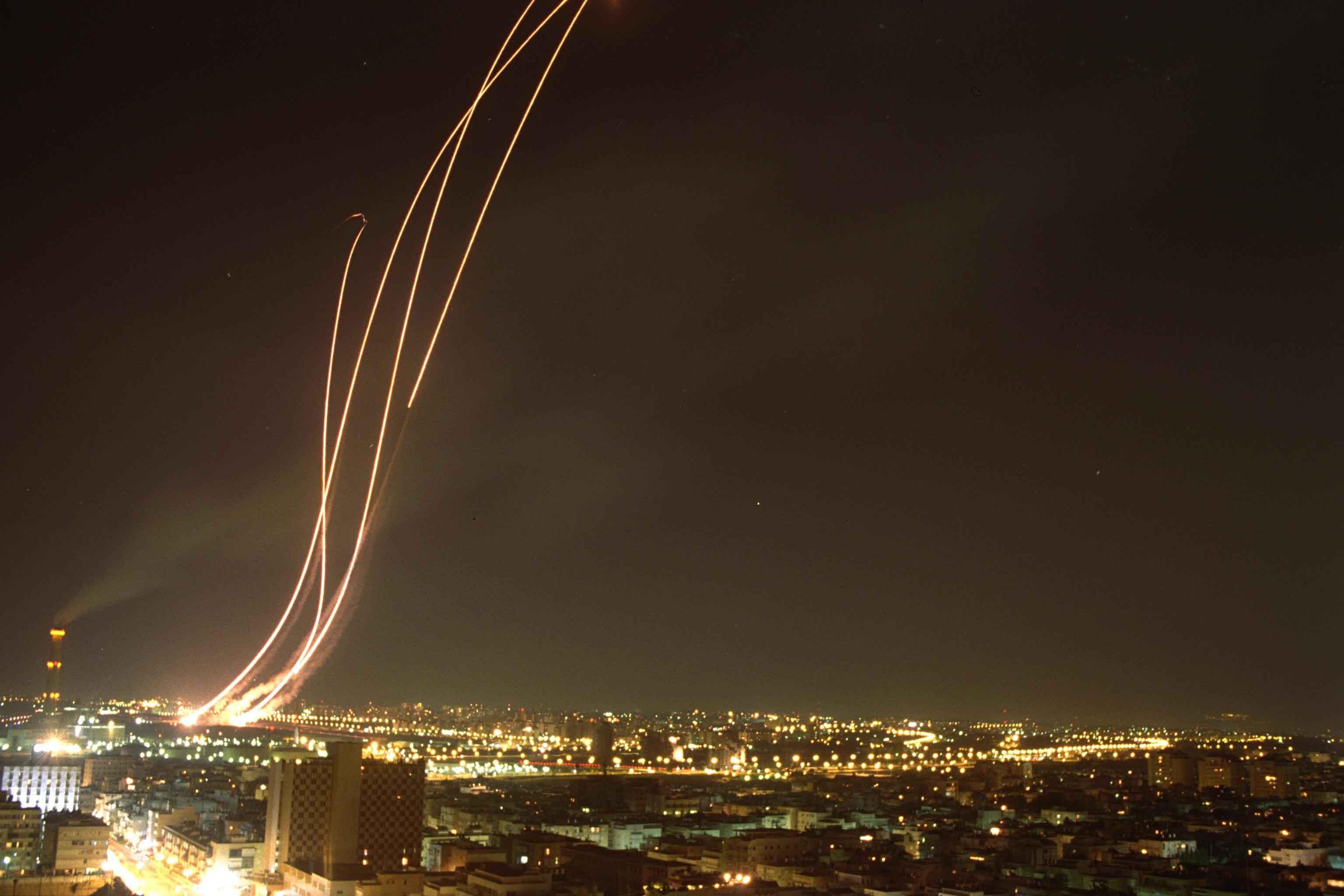 Patriot missiles.