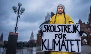 Greta Thunberg school strike sign