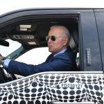 Biden driving electric truck