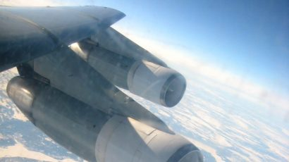 Image of Arctic area taken aboard US aircraft en route to Europe 2014. Credit: Diana Marvin. Used with permission.